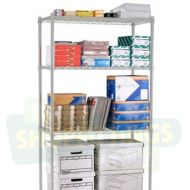 Chrome Shelving Unit - 915mm Tall